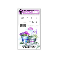 Art Impressions Watercolours Stamp Set Mini Flowers