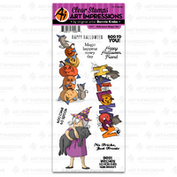 Art Impressions Clear Stamp Halloween Magic