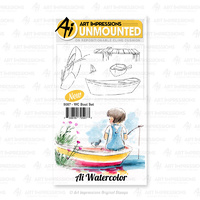 Art Impressions Watercolours Cling Stamp Boat