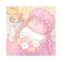 Print Blocks Paper Baby Girl's Room