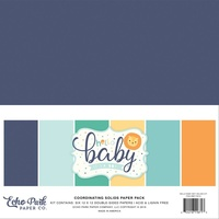 "Echo Park Hello Baby Boy 12"" Solid Colours Cardstock Pack"