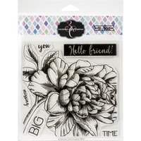 Colorado Craft Company Big and Bold Stamp Missing You Peony