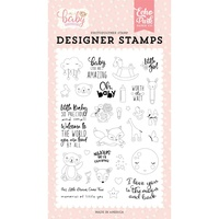 Echo Park Hello Baby Girl Stamp Little Baby