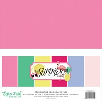 "Echo Park Best Summer Ever 12"" Paper Pack Solids"