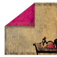 Fabscraps Burlesque Paper Chaise