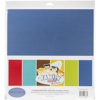 "Carta Bella Family Night 12"" Solids Cardstock Pack"