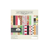 "Authentique 6x6"" Double Sided Cardstock Pad Cheerful 24pg"