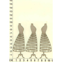 Scrapmatts Chipboard Shapes Dress Forms 05   3pc