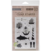 Hero Arts Adrift Clear Stamp Anchors Away by Basic Grey
