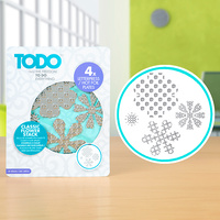 Todo Hotfoil Plate Classic Flower Stack