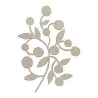 Couture Creations Chipboard Berried Branch 1pc
