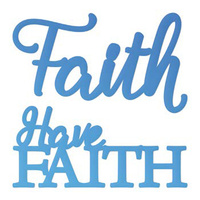 Couture Creations Everyday Mini Die Have Faith Sentiment