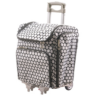 Couture Creations Rolling Travel Craft Trolley Tote