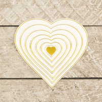 Couture Creations Modern Essentials Cut, Foil and Emboss Nesting Die Hearts