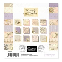 Couture Creations Butterfly Garden Paper Pad 6x6""