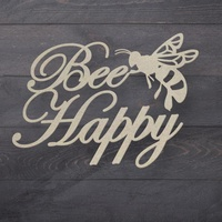 Couture Creations Butterfly Garden Chipboard Bee Happy