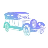 Couture Creations Mens Mini Stamp Vintage Car