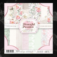 "Couture Creations Peaceful Peonies 6.5"" Paper Pad"
