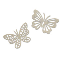 Couture Creations Peaceful Peonies Chipboard Dual Butterflies