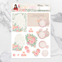 Couture Creations My Secret Love A4 Decoupage Set Clocks & Florals