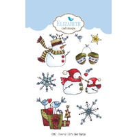 Elizabeth Craft Designs Clear Stamps Snowman & Gifts by Krista Schneider