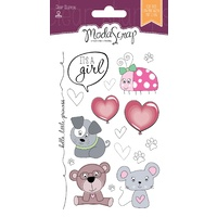 Elizabeth Craft Designs Clear Stamps Colour of Puppies Girl by Modascrap MSTC7003