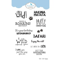 Elizabeth Craft Designs Stamp Safari Sayings
