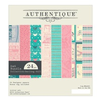 "Authentique 6x6"" Double Sided Cardstock Pad Darling Girl 24pg"