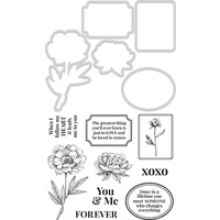 Kaisercraft Decorative Die & Stamp Set You and Me