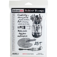 Darkroom Door Cling Rubber Stamp Set Artist Palette