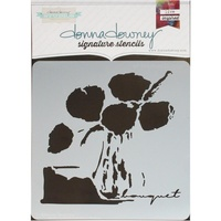 "Donna Downey Signature Stencil 8.5x8.5"" Un Bouquet"