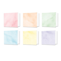 "Hunkydory Design Essentials Card Blanks with Envelopes 6x6"" Brushed Pastels"
