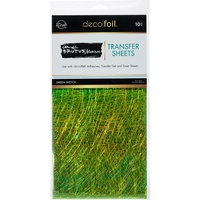Thermoweb iCraft Deco Foil Transfer Sheet Green Sketch