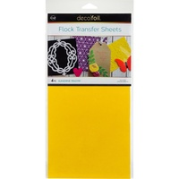 Thermoweb iCraft Deco Foil Flock Transfer Sheet Sunshine Yellow