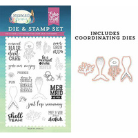 Echo Park Mermaid Dreams Stamp & Die Combo Be a Mermaid