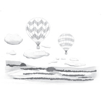 Spellbinders 3D Cling Stamp Hot Air