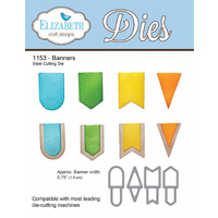 Elizabeth Craft Designs Die Banners (4 Piece) by Joset Designs