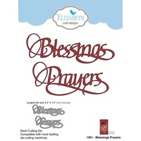 Elizabeth Craft Designs Die A Way With Words Blessings Prayers by Suzanne Cannon