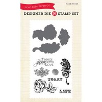 Echo Park Die & Stamp Combo Things Grow Better With Love