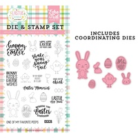 Echo Park Easter Wishes Stamp & Die Combo Set