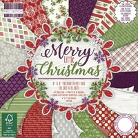 "First Edition 6x6"" Premium Paper Pad Merry Little Christmas 64pg"