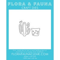 Flora & Fauna Die Cactus with Heart Pot