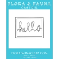 Flora & Fauna Die Hello Rectangle