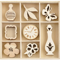 Kaisercraft Mini Wooden Flourish Pack Antiquities