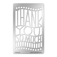 Stampendous Metal Stencil Thank You Ensemble