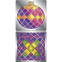 Stampendous Metal Stencil Duo Ornament