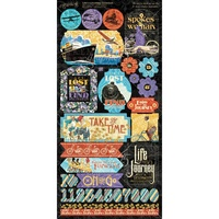 Graphic 45 Life's Journey Cardstock Stickers