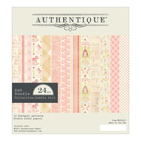 "Authentique 6x6"" Double Sided Cardstock Pad Cuddle Girl 24pg"
