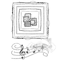 49 and Market Clear Stamp Gabi's Square Stitch