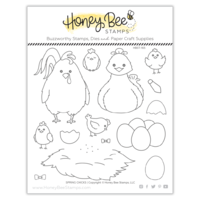 Honey Bee Stamp Spring Chicks